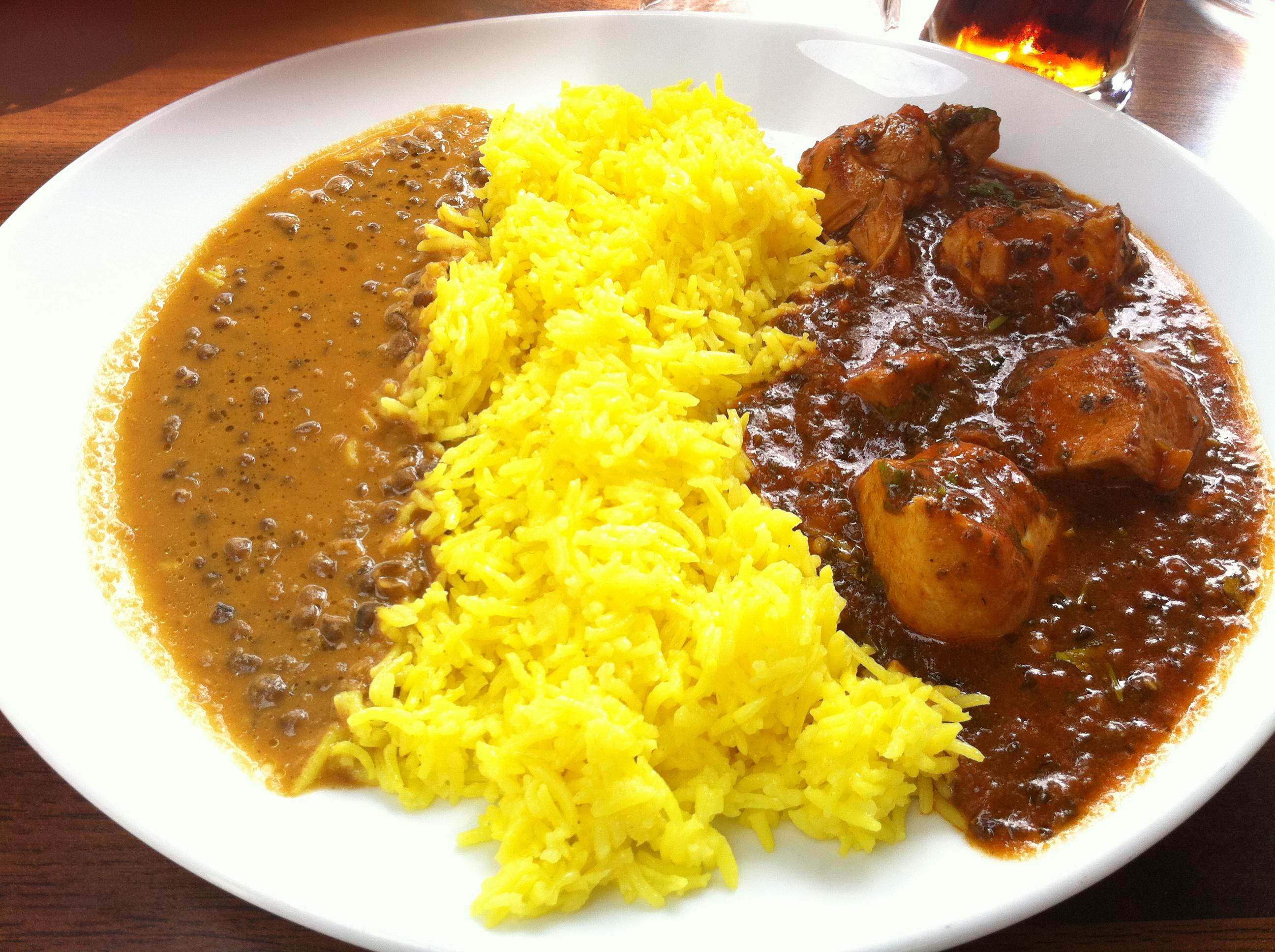 Darshan, Riihimäki: Saag Chicken, kananpoikaa tulisessa pinaattikastik
