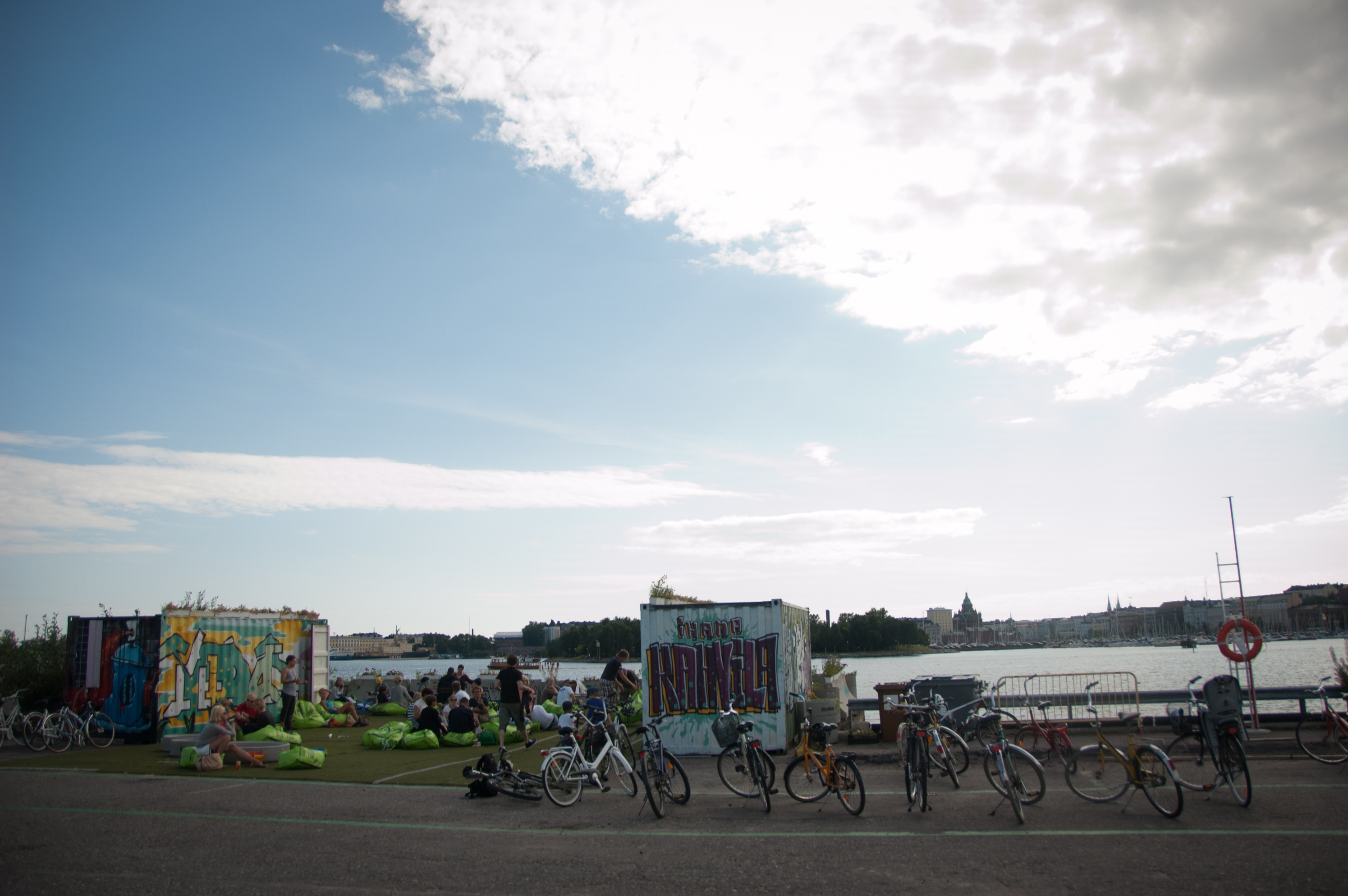 IhanaKahvila, Helsinki: The cafe and view
