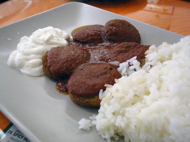 Megaspizza, Vanda: Falafel riisillä
