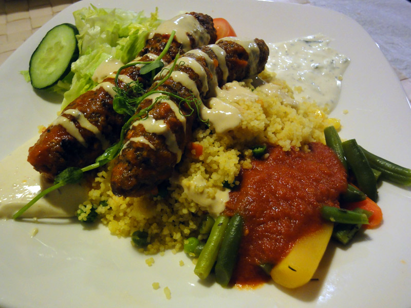 Habibi Mediterranean Cuisine, Helsinki: Shish Kebab Kofta with Couscous