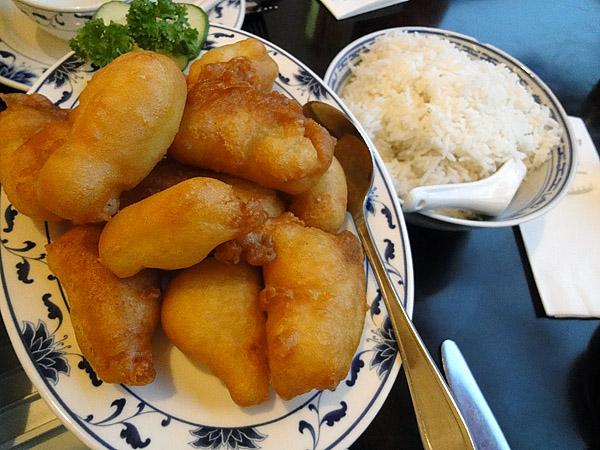 Kong Fu Zi, Helsinki: Friteerattua kalaa ja hapanimeläkastiketta