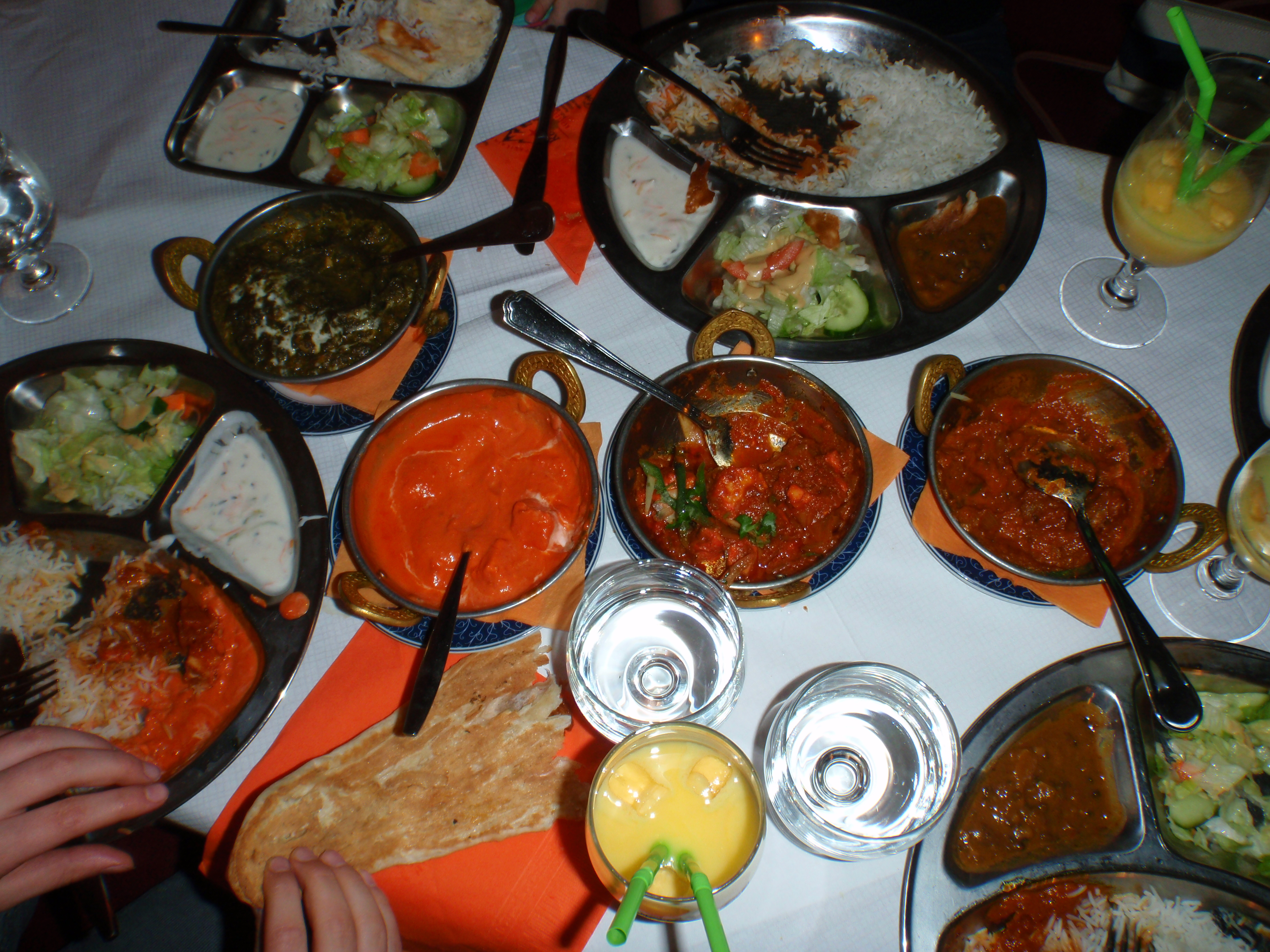 Royal Pokhara, Helsingfors: the set menu for 4 persons