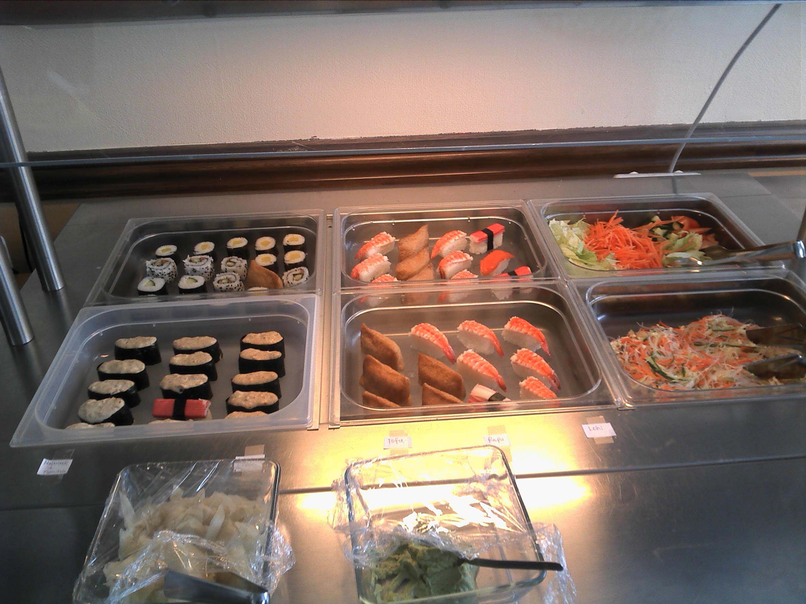 Harbin, Helsinki: Sushi-buffet