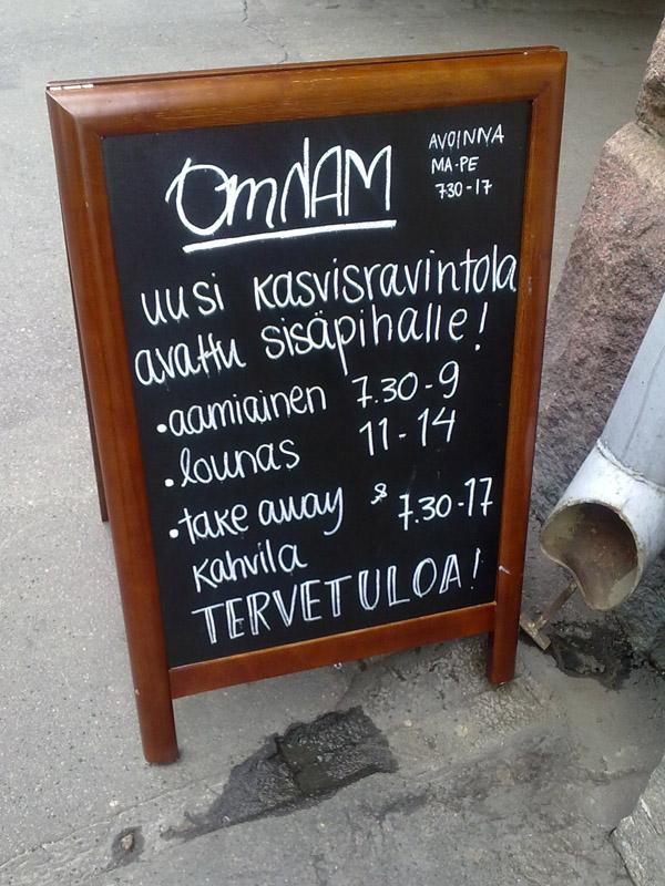 OmNam, Helsinki: Tervetuloa!