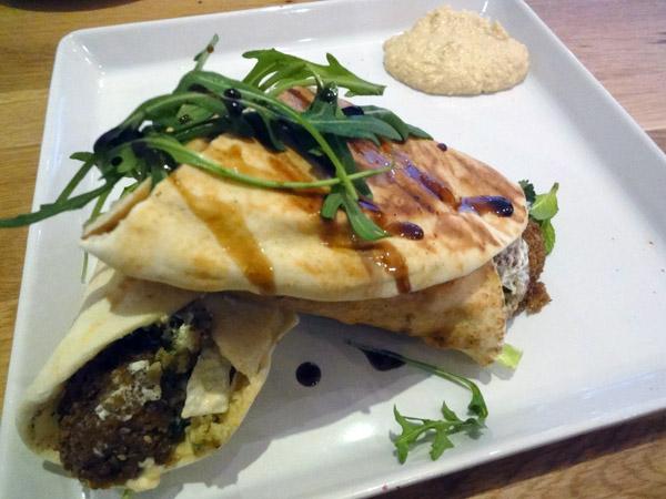 Levant, Helsinki: Halloumi falafel sandwich