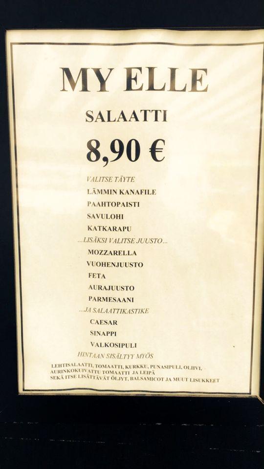 My Elle, Tampere: Salaattimenu