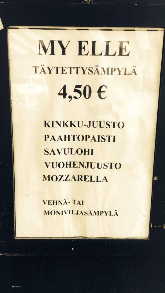 My Elle, Tampere: Sämpylämenu