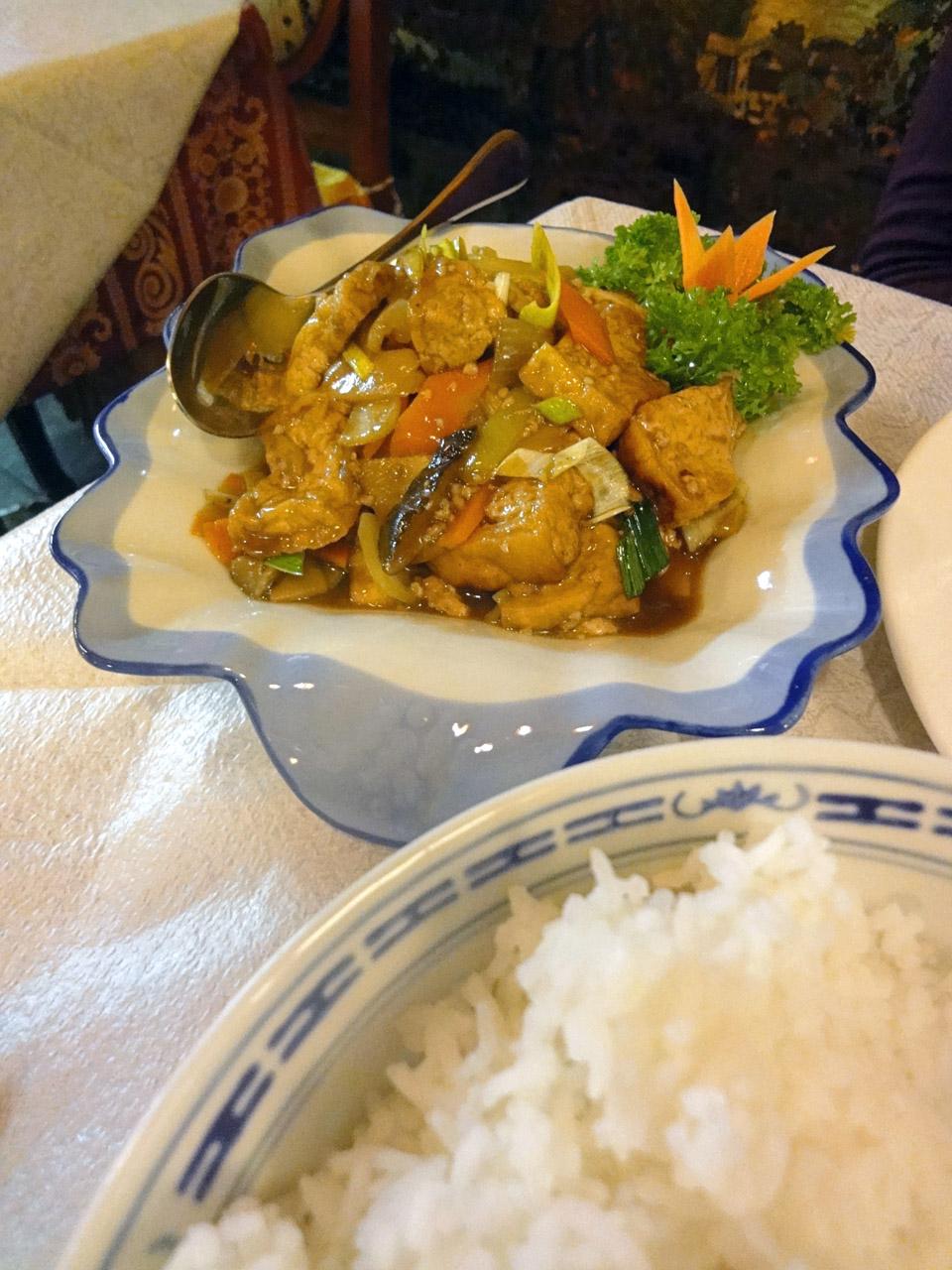 Punainen Omena, Helsinki: Tofua currykastikkeessa