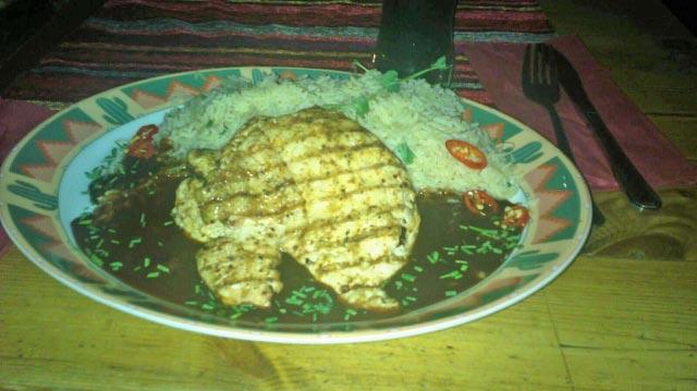 Ravintola Santa Fe, Helsinki: Chevre chicken eli pääruoka
