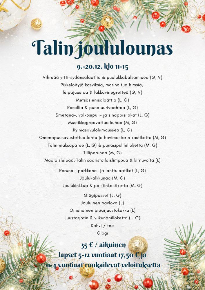 Ravintola Talin kartano, Helsinki