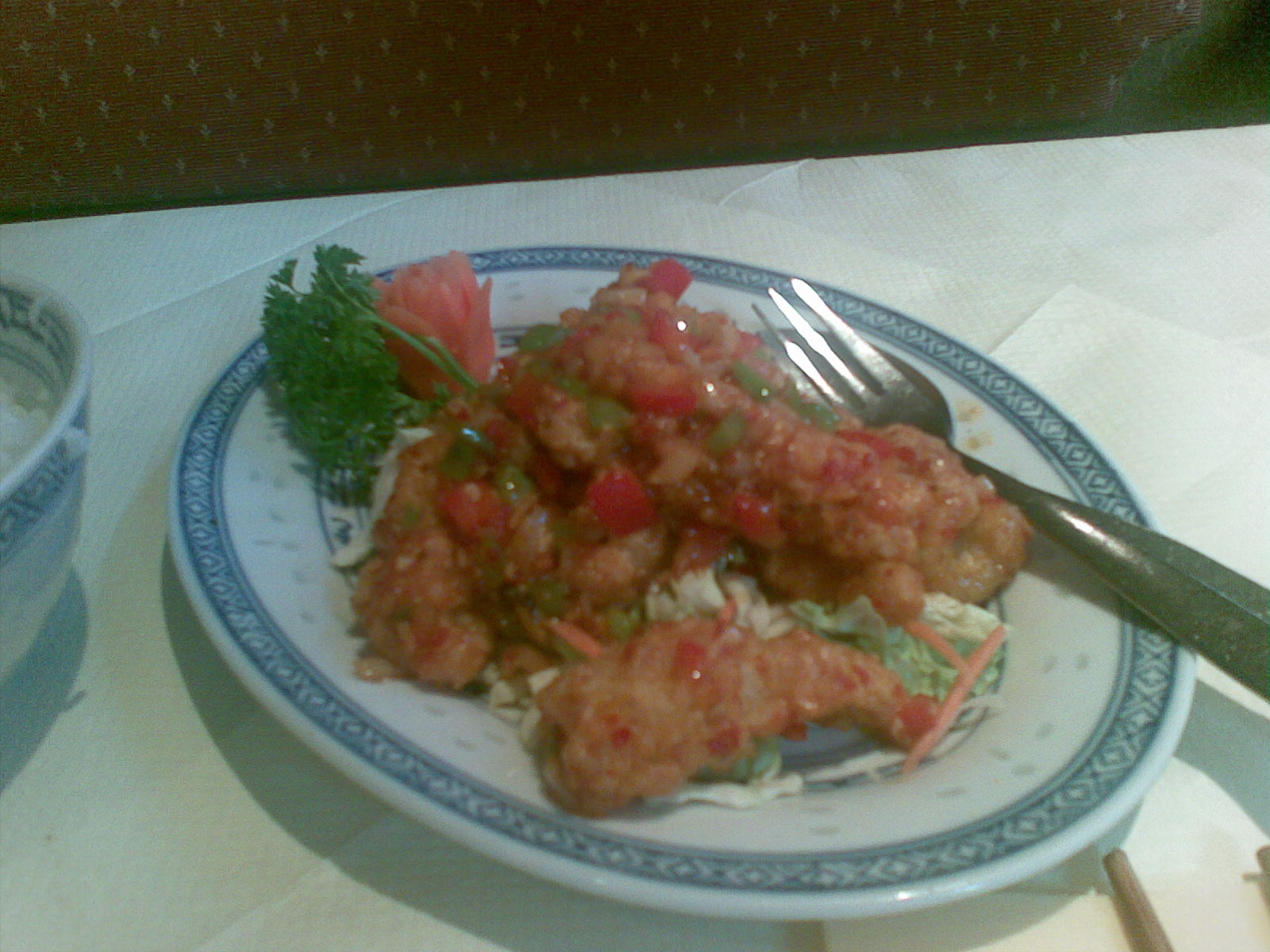 Ravintola China, Helsingfors: Mustekalaa pippurilla