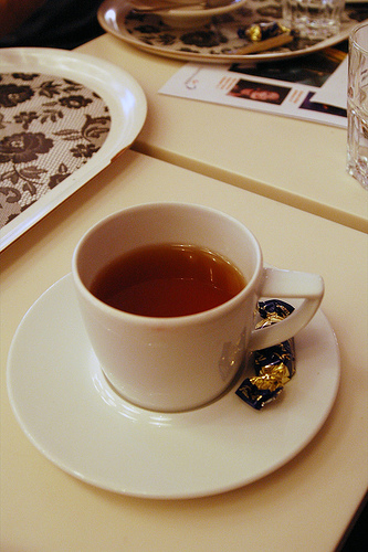 Karl Fazer Café, Helsingfors: chocolate tea