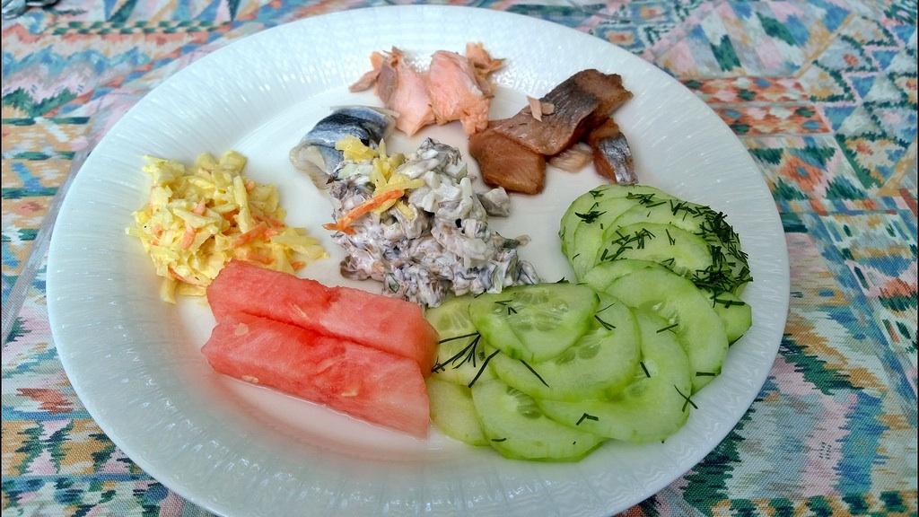 Ravintola Wanha Fiskari, Kotka: Osa salaattiaineista