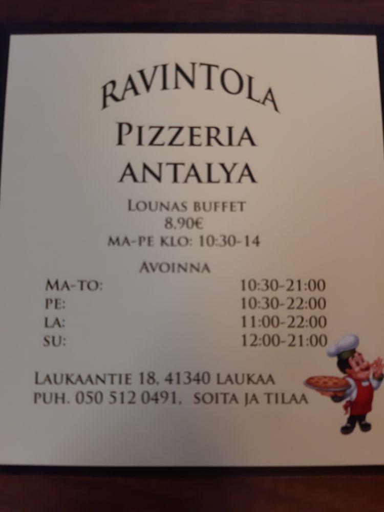 antalya pizzeria kebab ravintola, Laukaa