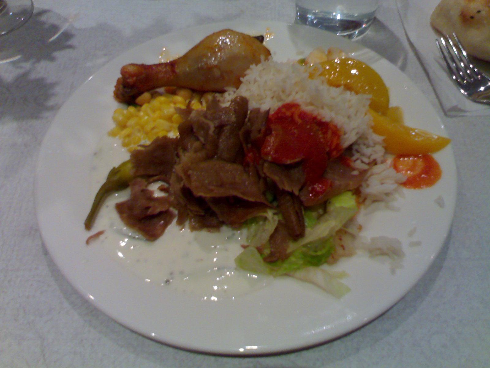 Pasha's Restaurant, Helsinki: buffetin antimia