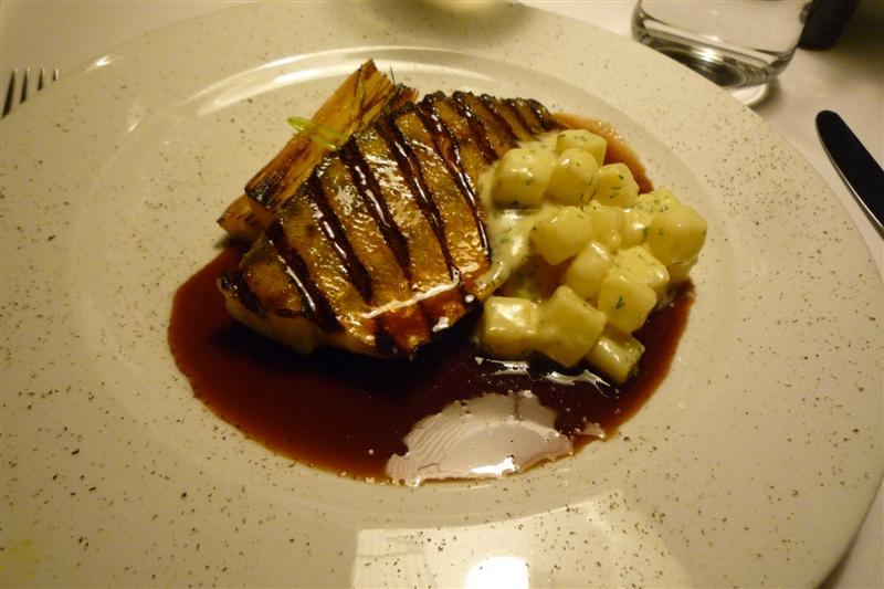 Savoy, Helsinki: Grilled pikeperch with anchovy potatoes and nutmeg