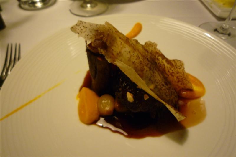 Savoy, Helsinki: Glazed Iberian organic pork with pumpkin purée