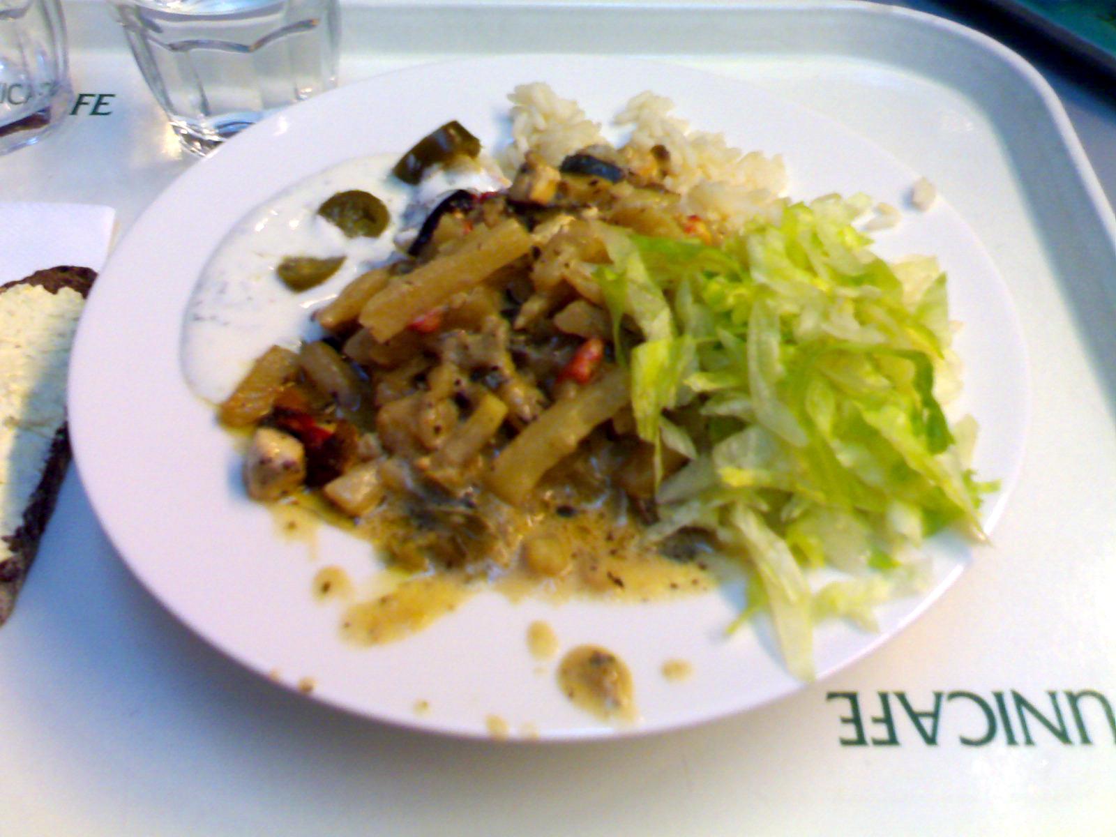 Unicafe Chemicum, Helsinki: kreikkalainen kasviskiusaus