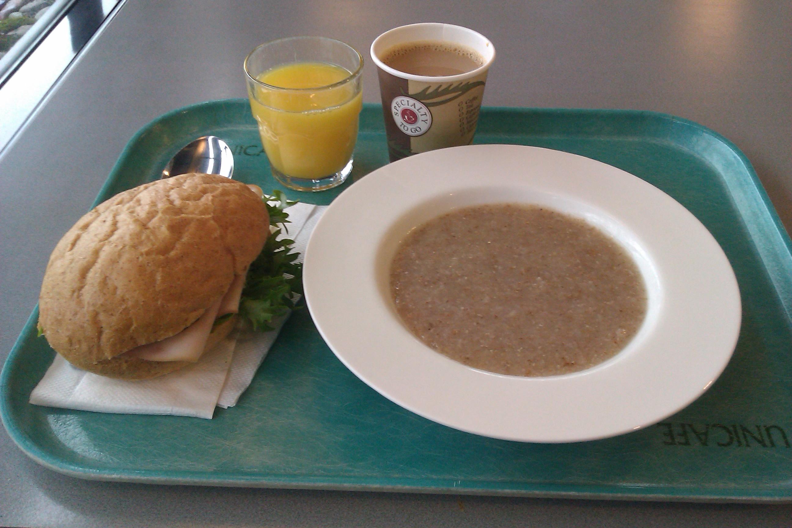 Unicafe Chemicum, Helsinki: Aamiainen