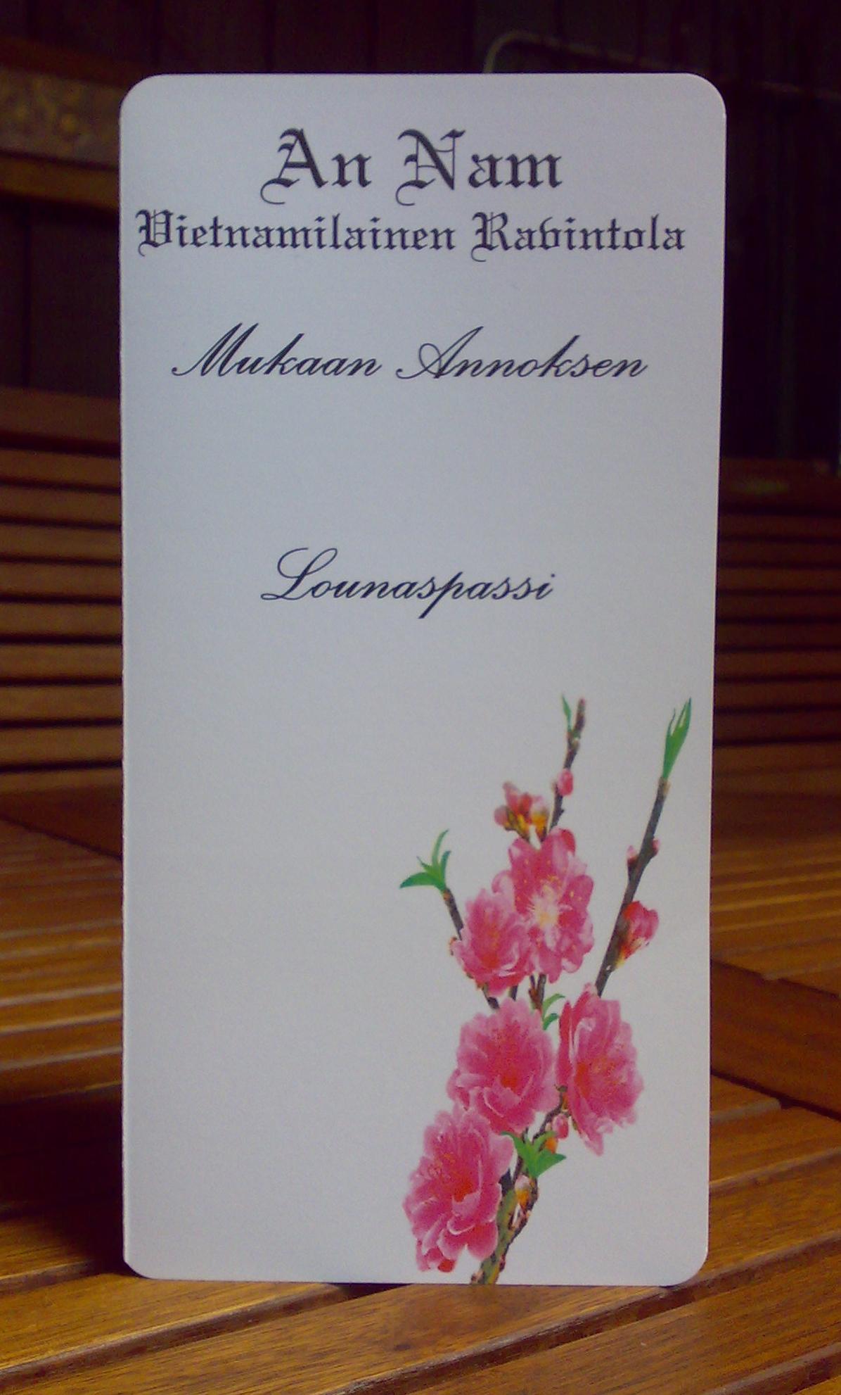 "An Nam, Valkeakoski: An Nam'in ""pieni"" lounaspassi"