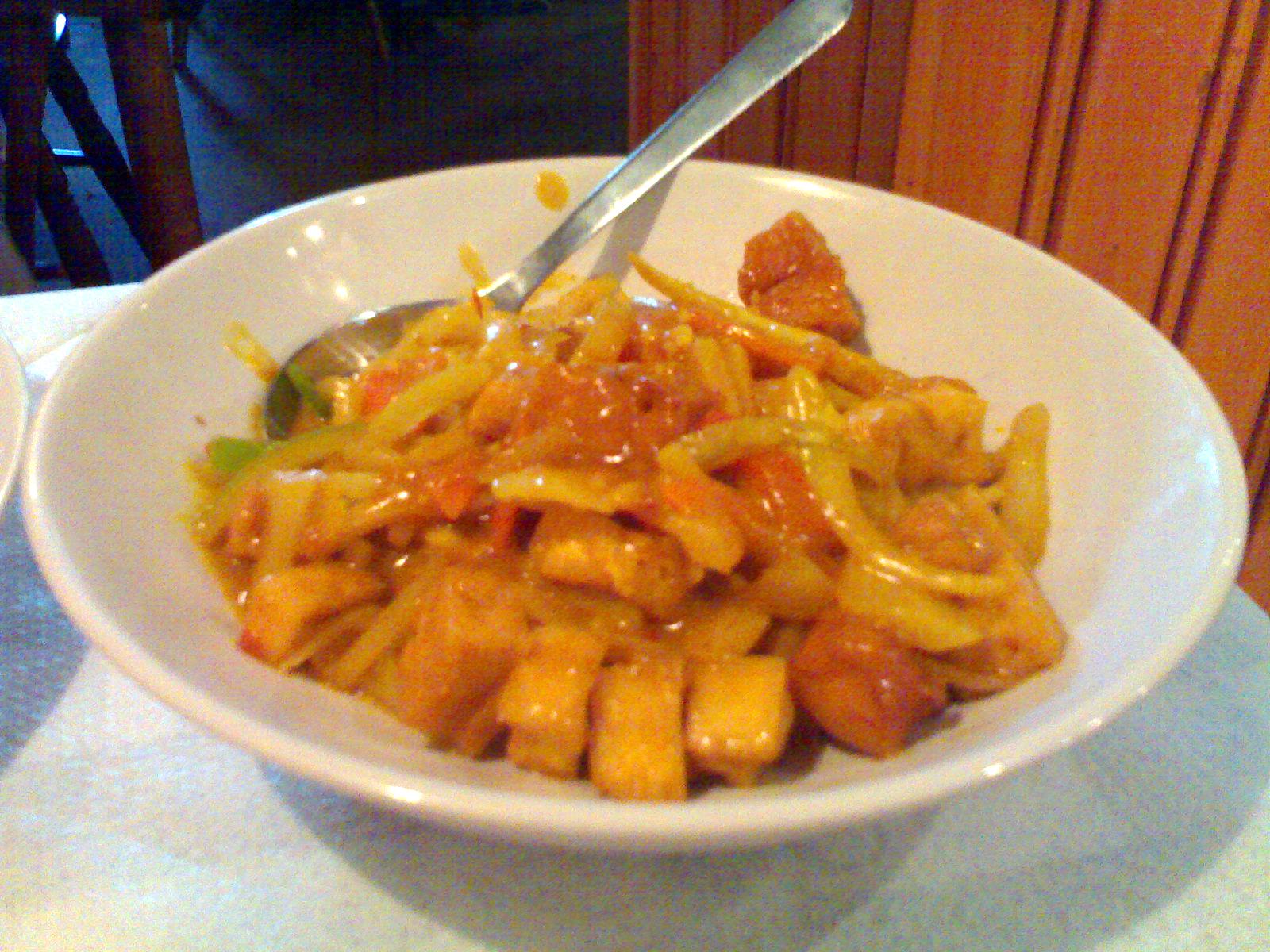 Xin Yuan, Helsingfors: Curry tofu