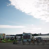 IhanaKahvila, Helsinki: The cafe and view