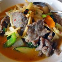 Xin Yuan, Helsinki: naudanlihaa vihreässä thai-curry kastikkeessa