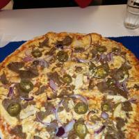 Nimikkopizza Amore Special hieman muunneltuna