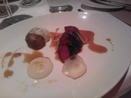 "Venison from ""Fiskars"" with Jerusalem artichoke"