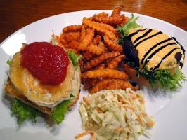 Vegetarian Club burger